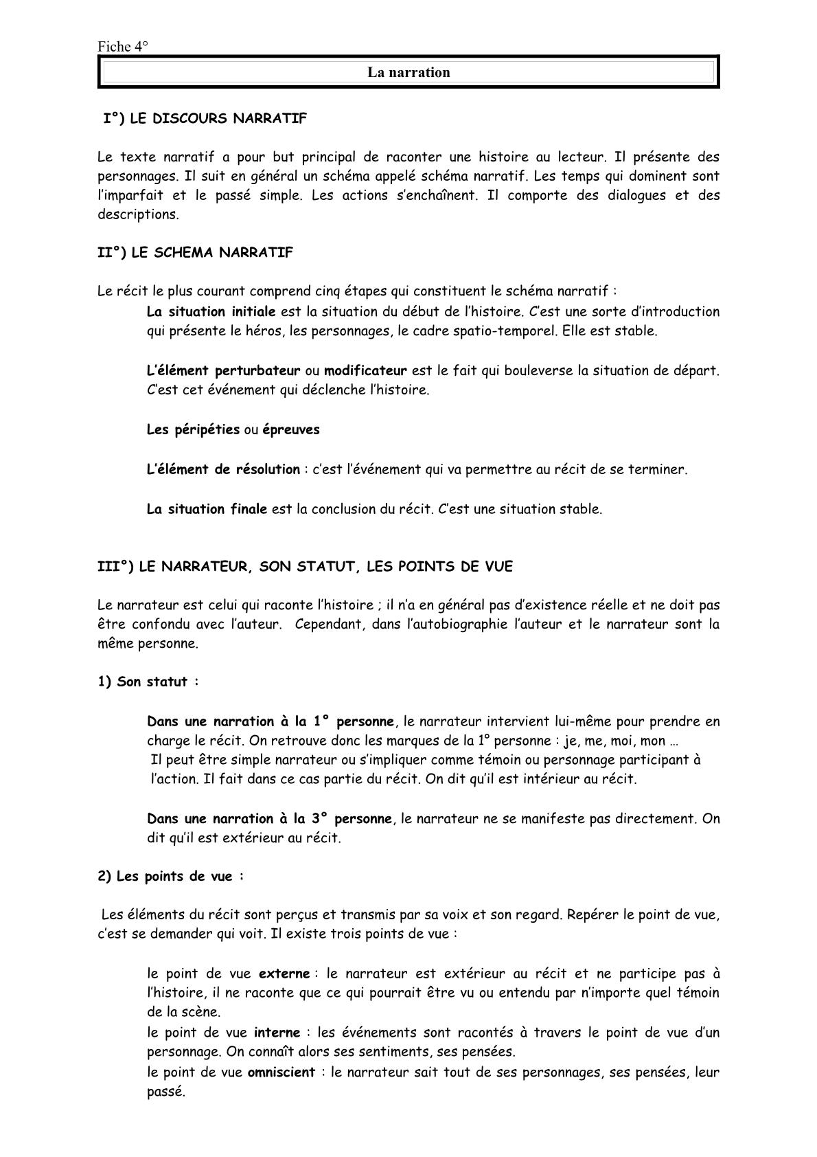 ملخص درس Le Texte Narratif الثانية اعدادي